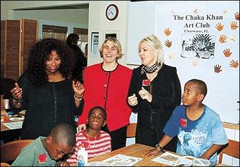 Chaka Khan visits Chaka Khan Art Club in Clearwater