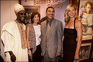 Isaac Hayes, Anne Archer, U.S. Representative Lacy Clay and Jenna Elfman
