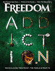 Freedom Magazine. April 2017. Addiction issue cover