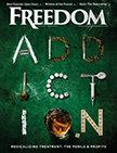 Freedom Magazine. April 2017. Addiction issue cover