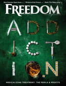 Freedom Magazine. Addiction issue cover