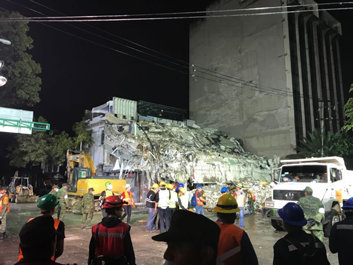 Mexico Earthquake: Los Topos HQ at the Church of Scientology