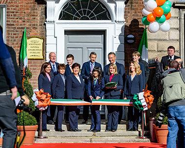 Inauguration du bureau national de l'Irlande