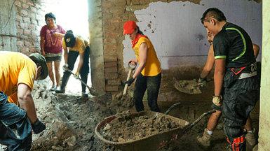 Noticias de los Ministros Voluntarios de Perú: más de 24 000 personas asistidas en la respuesta al desastre