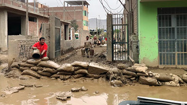 Volunteer Ministers in Peru as heavy rain causes flooding and deadly mudslides