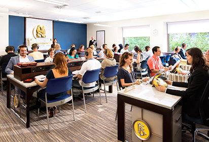 Scientologists attend classes