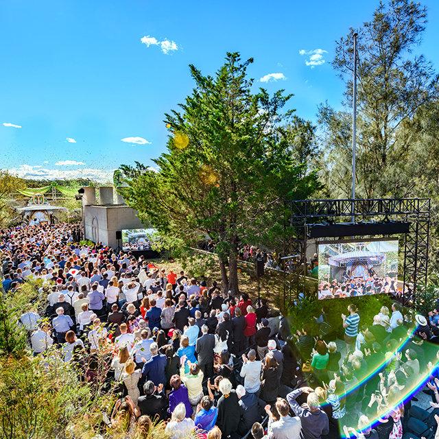 La inauguración de la nueva y masiva Organización Avanzada de la Iglesia de Scientology en Sídney, Australia