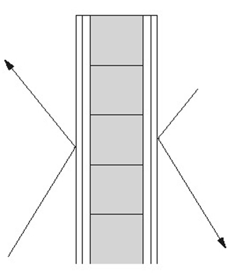 60 centimeter tjocka väggar bidrar till ljudisoleringen