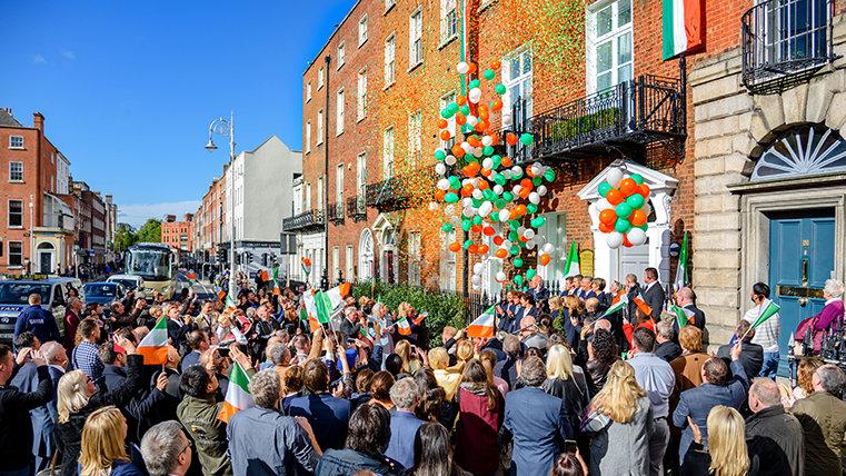 Inauguración de la Oficina Nacional de Irlanda