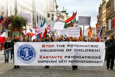 CCHR March in Prague