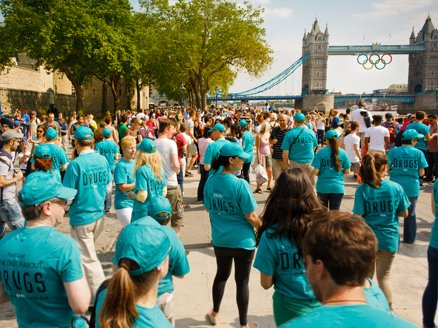 Anti-drug materials distributed during London Olympics